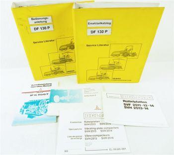 Demag DF130 P Bedienungsanleitung Ersatzteilkatalog Spare parts Catalogue 1995