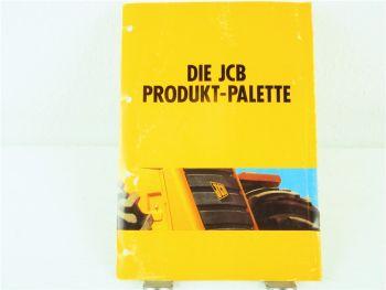Prospekt JCB Produktpalette Stapler Lader Bagger  Fastrac 1/1994