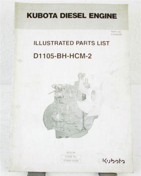 Kubota D1105-BH-HCM-2 Motor Ersatzteilliste in engl. Parts List 11/94