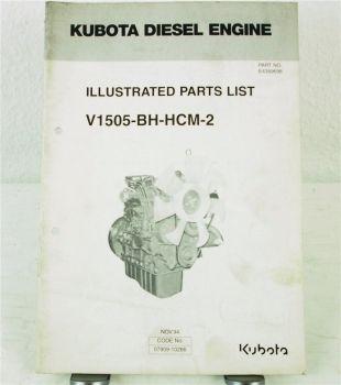 Kubota V1505-BH-HCM-2 Motor Ersatzteilliste in engl. Parts List 11/1994