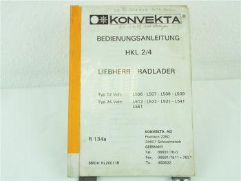 Konvekta HKL2/4 Klimaanlage Liebherr L506 507 509 512 - 551 Bedienungsanleitung