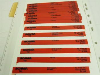 SCANIA T93 Ersatzteilliste Parts List Reservdelskatalog 2/1996