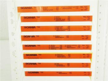 SCANIA T82 Ersatzteilliste Parts List Reservdelskatalog 10/1987