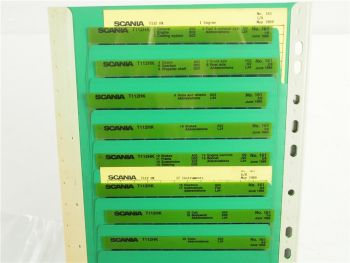 SCANIA T112 HK Ersatzteilliste Parts List Reservdelskatalog 6/1988