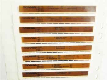 SCANIA LB LBS LBT 111 ab 1977 Ersatzteilliste Parts List Reservdelskatalog 1984
