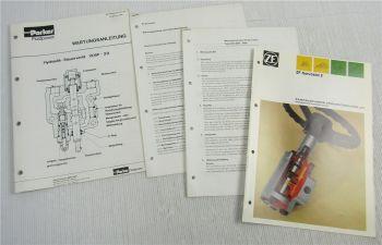 ZF Servostat 2 Prospekt und Wartungsanleitung Bedienung + Steuerventil VDSP20