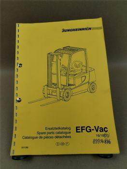 Jungheinrich EFG Vac 16 18 20 Ersatzteilliste Spare parts list