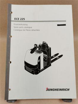 Jungheinrich ECE 225 Ersatzteilliste Spare parts Pieces Catalogue 2007