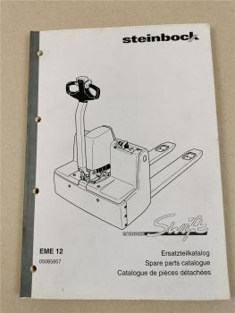 Steinbock EME 12 Swift Hubwagen Ersatzteilkatalog Spare parts catalogue pieces