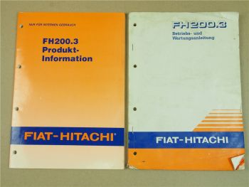 Fiat Hitachi FH200.3 Bagger Bedienungsanleitung Wartung und Produktinformation