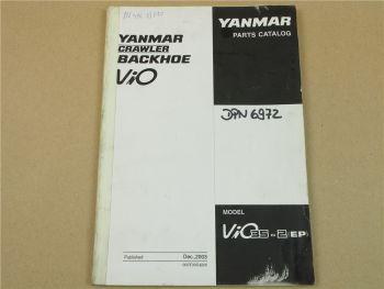 Yanmar ViO 35-2 Crawler Backhoe Ersatzteilliste in engl. Parts List 12/2003