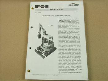 Hitachi EX40 U EX50U Minibagger Bedienungsanleitung und Produkt News 1999