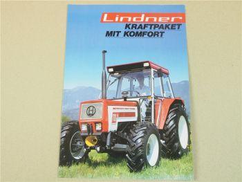 Lindner 1700 1700A Traktor Prospekt aus den 80er Jahren