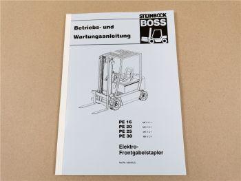 Steinbock Boss PE 16 20 25 30 D Betriebsanleitung Bedienung Wartungsanleitung
