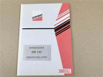 Gehl Gehlmax MB145 Ersatzteilliste Ersatzteilkatalog Spare parts manual