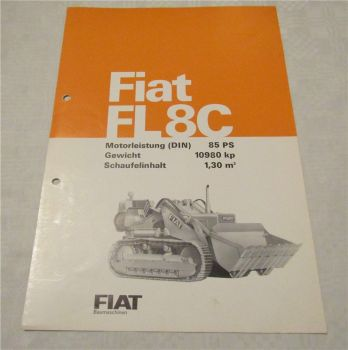 Prospekt Fiat FL8C 85 PS Laderaupe technische Daten