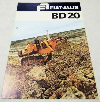 Prospekt Fiat Allis Fiat-Allis BD20 Laderaupe  technische Daten