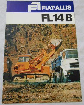 Prospekt Fiat-Allis FL14B Laderaupe mit technischen Angaben wohl 70/80er Jahre