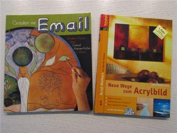 Gestalten mit Email von G. Rittmann-Fischer + Neue Wege zum Acrylbild mit DVD