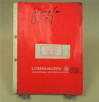 Vibromax Bull SL2 Stampfer Bedienungsanleitung Wartung und  Ersatzteilliste