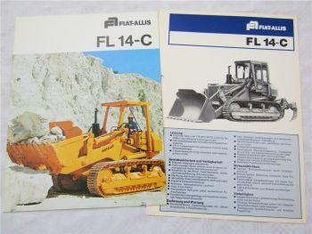Prospekt Fiat Allis FL14C FL 14-C Laderaupe mit technischen Angaben