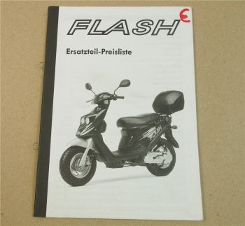 Flash Roller Preisliste Ersatzteilkatalog 01/2002 SI Zweirad Service GMBH