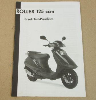Roller 125 ccm 1/2002 SI Zweirad Service GMBH Preisliste Ersatzteilliste