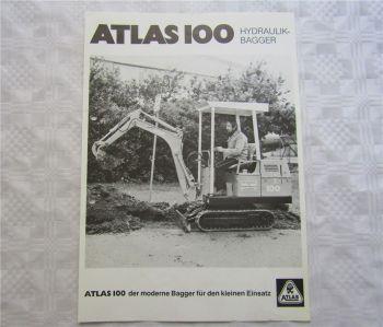 Prospekt Atlas 100 Hydraulikbagger 10/1984