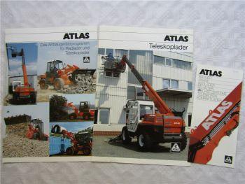 3 Prospekte Atlas Teleskoplader Anbaugeräte Programmübersicht 1997/1999