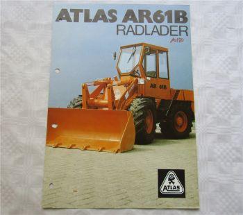 Prospekt Atlas Radlader AR61 B von 1980