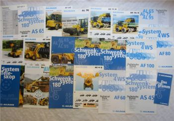 Konvolut Prospekte Ahlmann Schwenksystem AS AF Lader 4WS ca 1996-98