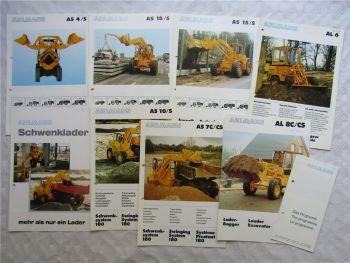 9 Prospekte Ahlmann Radlader AL8C/CS  AS7C/CS ASS10/S AL6 AS15 + Gesamtprogramm