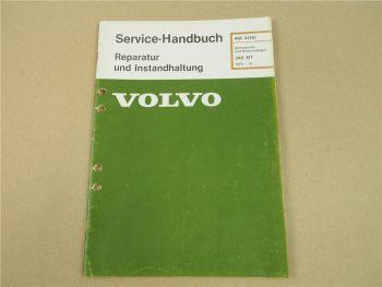 Volvo 340 343 MT Achsantrieb Hinterradlager Werkstatthandbuch ab 1979