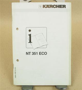 Kärcher NT351 ECO Betriebsanleitung Bedienungsanleitun Instructions 4/98