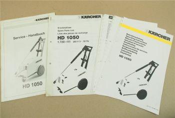 Kärcher HD1050 Betriebsanleitung Service Handbuch und Ersatzteilliste um 1992