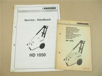 Kärcher HD1050 Betriebsanleitung und Service Handbuch mit Ersatzteiliste um 1990