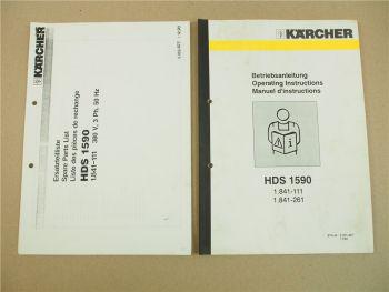 Kärcher HDS1590 Betriebsanleitung Ersatzteilliste Parts List Instructions 1990