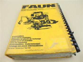 Faun F 155 Grader Ersatzteilkatalog Ersatzteilliste Spare Parts List Teileliste