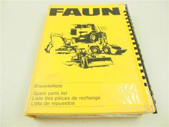 Faun F155 Grader Ersatzteilliste Ersatzteilkatalog Parts List Pieces rechange