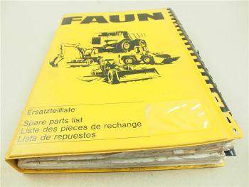 Faun F155 Grader Ersatzteilliste Ersatzteilkatalog Parts List Pieces de rechange