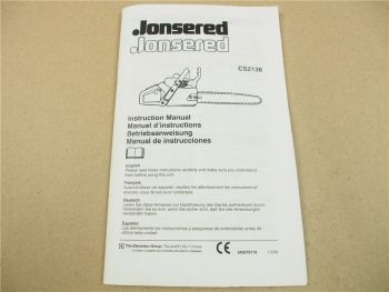 Jonsered CS2138 Instruction Manual Betriebsanleitung Manuel instructions 2006
