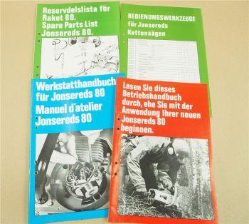 Jonsered 80 Bedienungsanleitung Ersatzteilliste Werkstatthandbuch Reparaturhandb