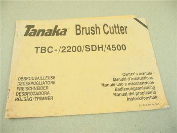 Tanaka TBC 2200 SDH 4500 Bedienungsanleitung Instruktionsbok Manual 1994