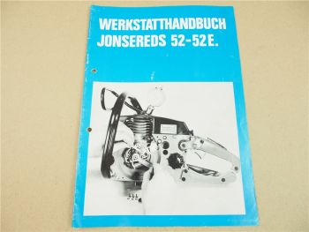 Jonsered 52 52E Motorsäge Kettensäge Werkstatthandbuch Reparaturhandbuch