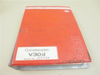 O&K V30 Betriebsanleitung Ersatzteilliste Ersatzteilkatalog 1977