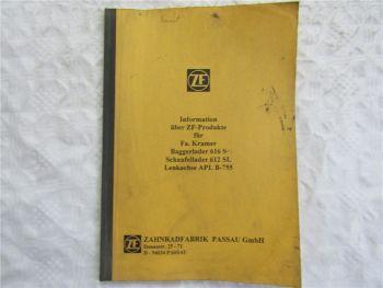 ZF APL B755 Achse Informationen zu Kramer 616S 612SL Lader 1993 Werkstatthandb