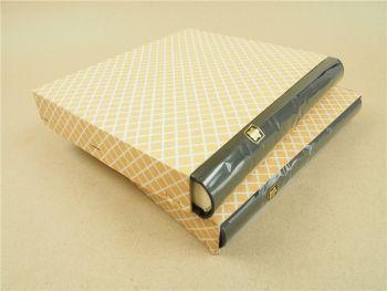 2x Plum Fotoalben handgefertigt Halbledereinband Echtleder
