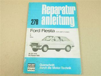 Ford Fiesta L S Ghia 1,0 und 1,1-Liter Reparaturhandbuch Werkstatthandbuch 76-80