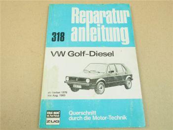 VW Golf Diesel ab 1976 - 8/1980 Werkstatthandbuch Reparaturhandbuch