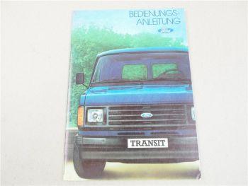Ford Transit diesel benzin + Automatik Bedienungsanleitung Betriebsanleitung 83